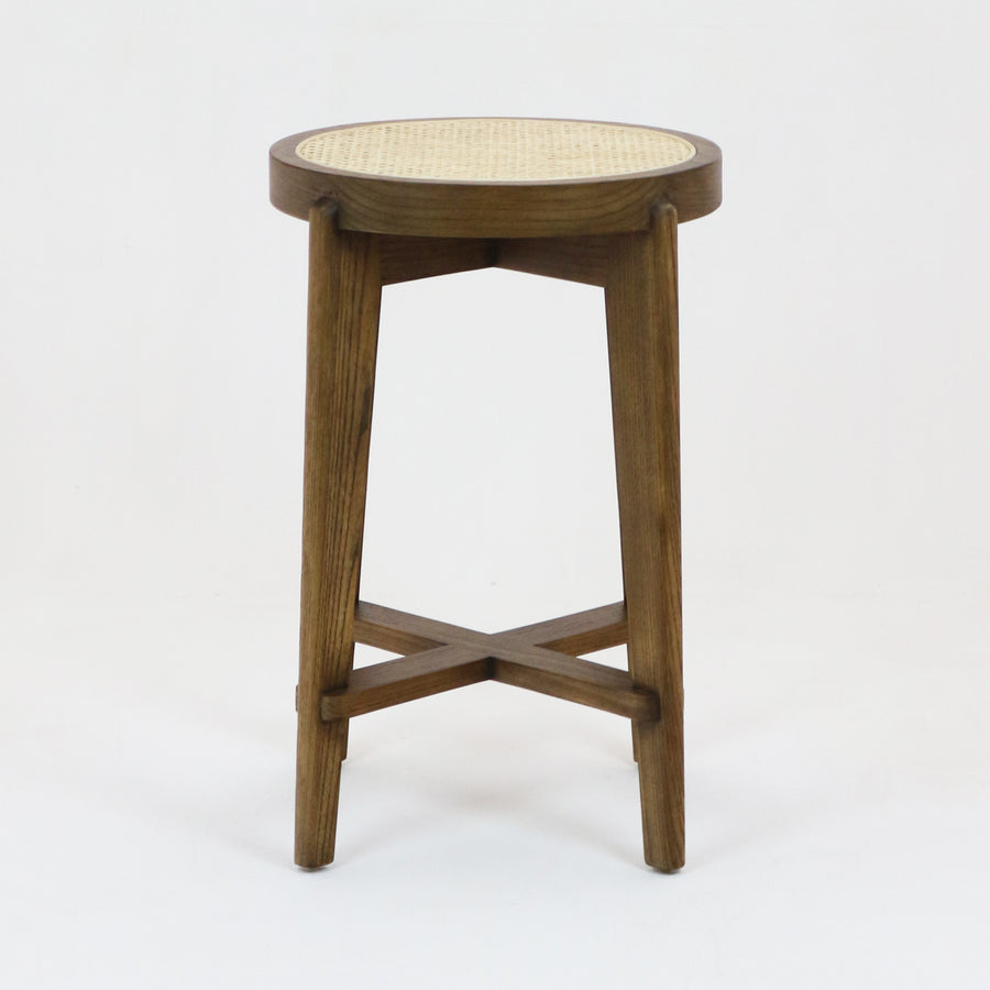 Pierre Jeanneret Counter Stool Teak Walnut Finish