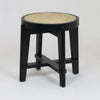 Pierre Jeanneret Stool Teak in a Black Gloss finish