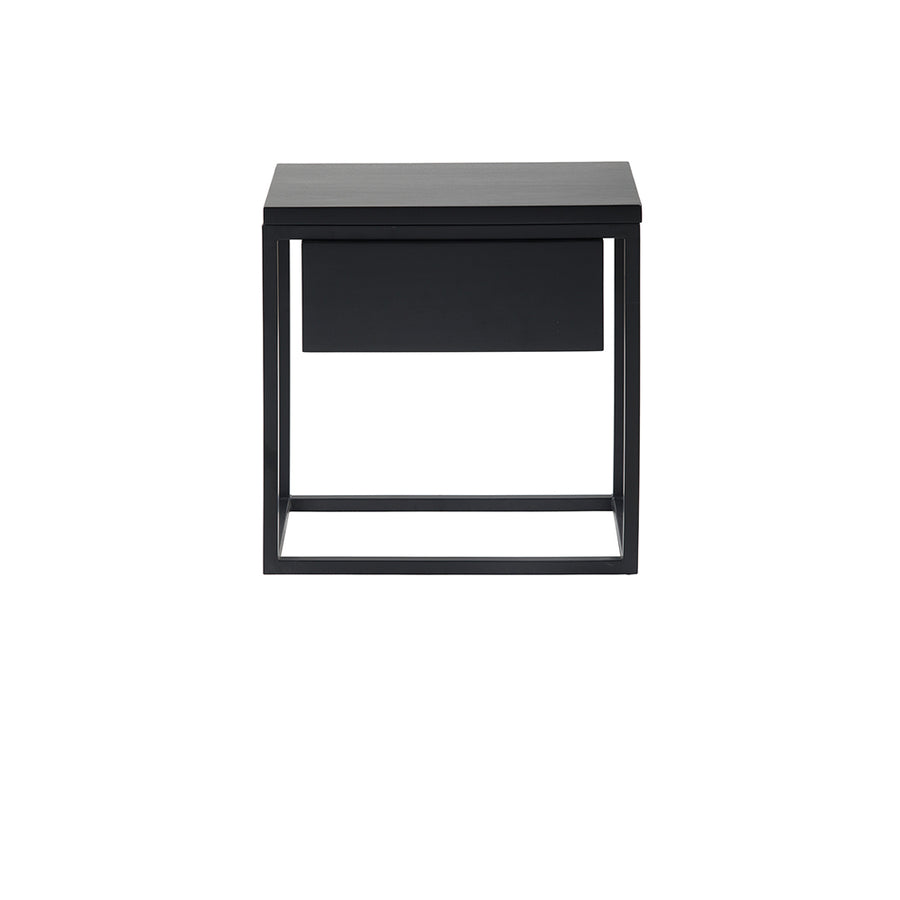 Kubic Bedside Table in Black Mahogany