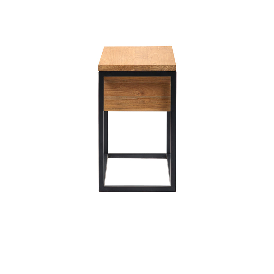 Kubic Bedside Table in Teak