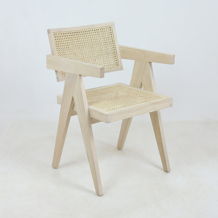 Jeanneret Dining Chair Oak Round Weave