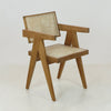 Jeanneret Dining Chair in Teak Natural Traditional Weave