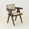 Jeanneret Dining Chair in Walnut Traditional Weave
