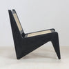 Tribute Jeanneret Kangaroo Chair in Black Gloss Mahogany