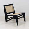 Jeanneret Kangaroo Chair in Black wash Mahogany