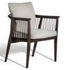 Marala armchair Walnut Grey Linen