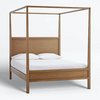 Clarine Four Poster Bed In Teak