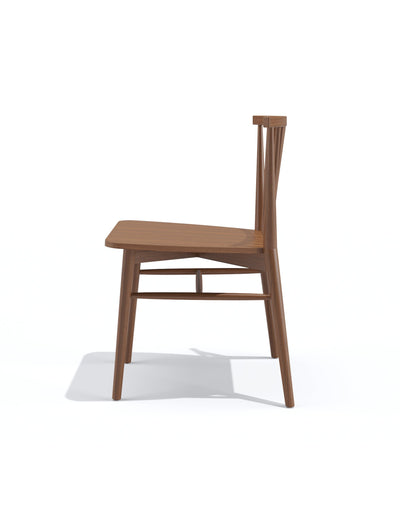Spindle dining chair in teak natural