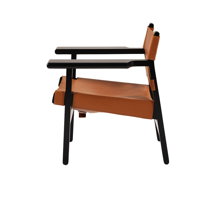 Barcelona Lounge Chair in Mahogany Black