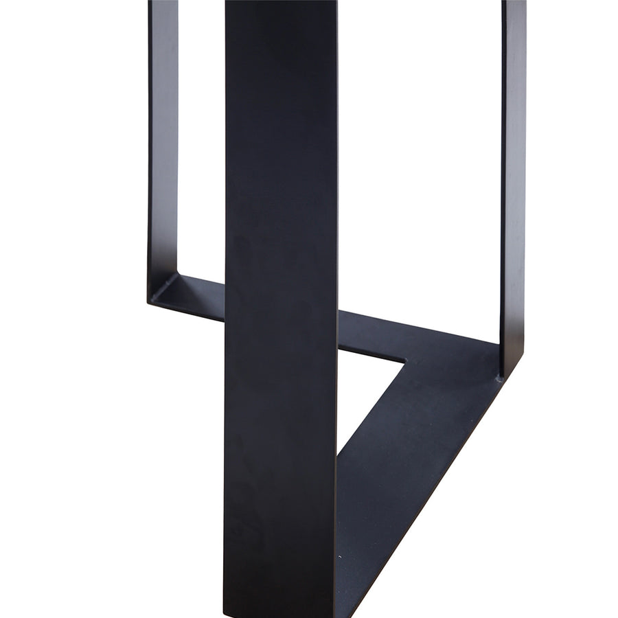 Steel Beam Black Mahogany Console