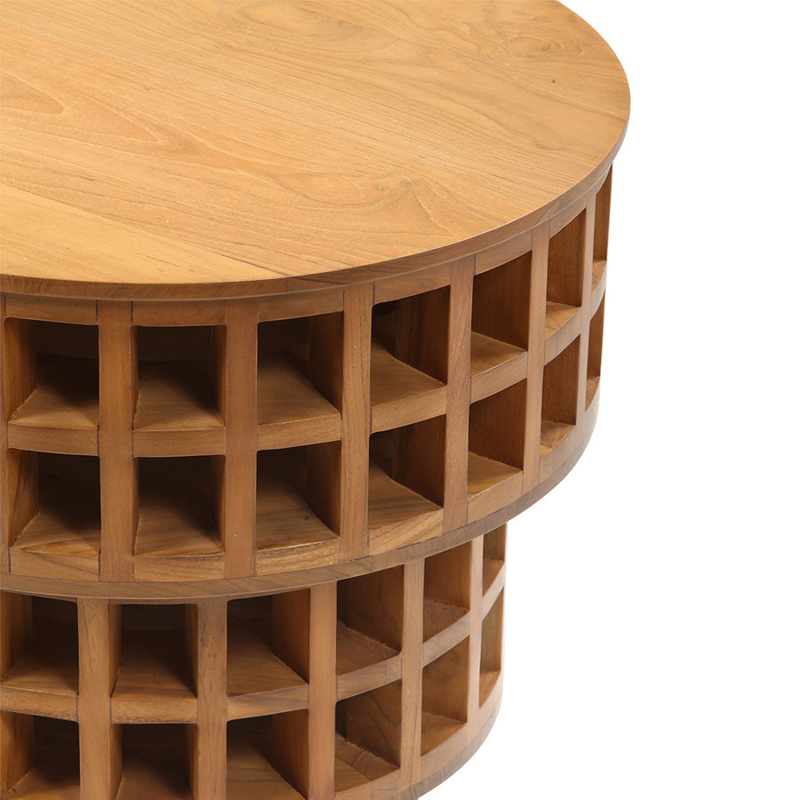 Carabo Side Table in Teak