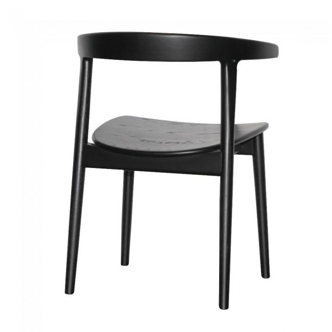 Scandinavian Dining Chair in Mahogany Black