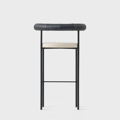 Iron Frame Leather Bar Stool