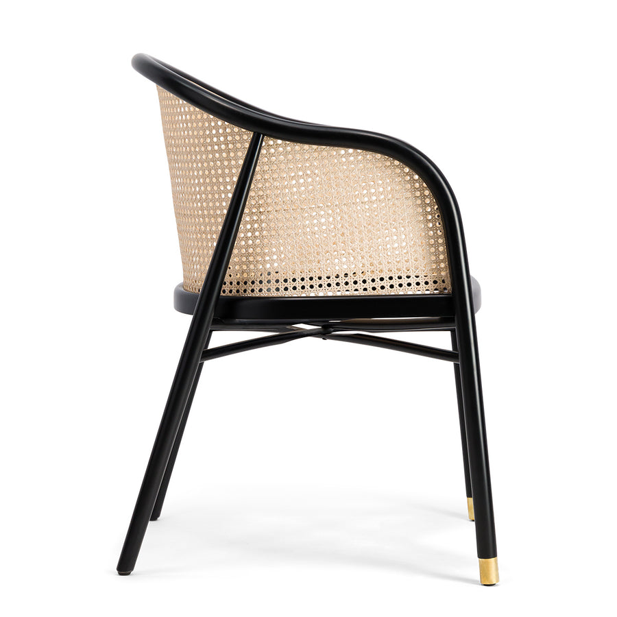 Milla Dining Chair in Mohogany Natural