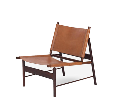 Swedish Stretch Leather chair in Mahogany Black