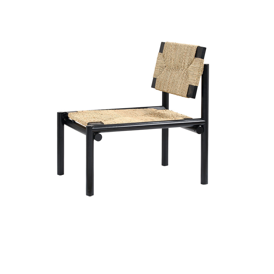 Papercord Lounge Chair in Mahogany Black