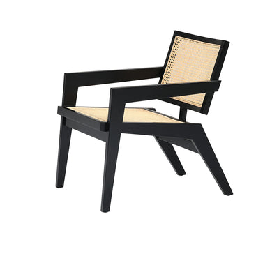 Pierre Jeanneret Easy Lounge Chair in Black Mahogany
