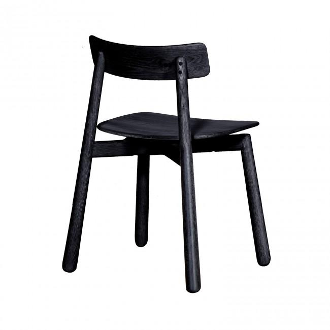 Danish Dining Chair in Mahogany Black