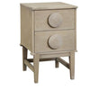 Wooden Bedside 2 Drawers in Oak Natural
