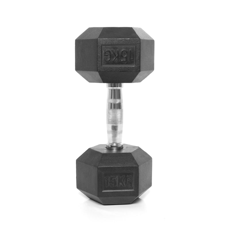 Elite Home Workout 2 x 15KG Hex Dumbbells (Pair)