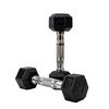 Elite Home Workout 2 x 2.5KG Hex Dumbbells (Pair)