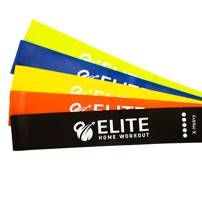 Elite Home Workout Set of 5 Resistance bands