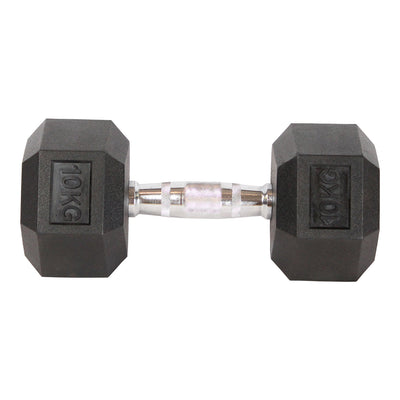 PREORDER END OF MARCH DELIVERY - Elite Home Workout 2 x 12.5KG Hex Dumbbells (Pair)