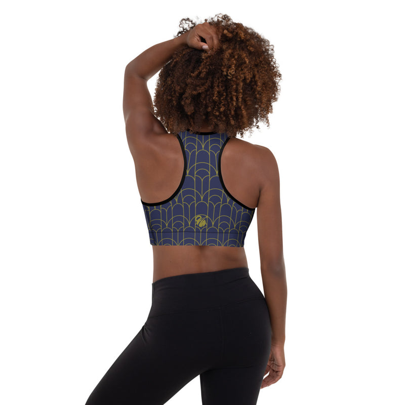 "EHW Gatsby ""Myrtle"" Sports Bra - Navy/Black Stitch"