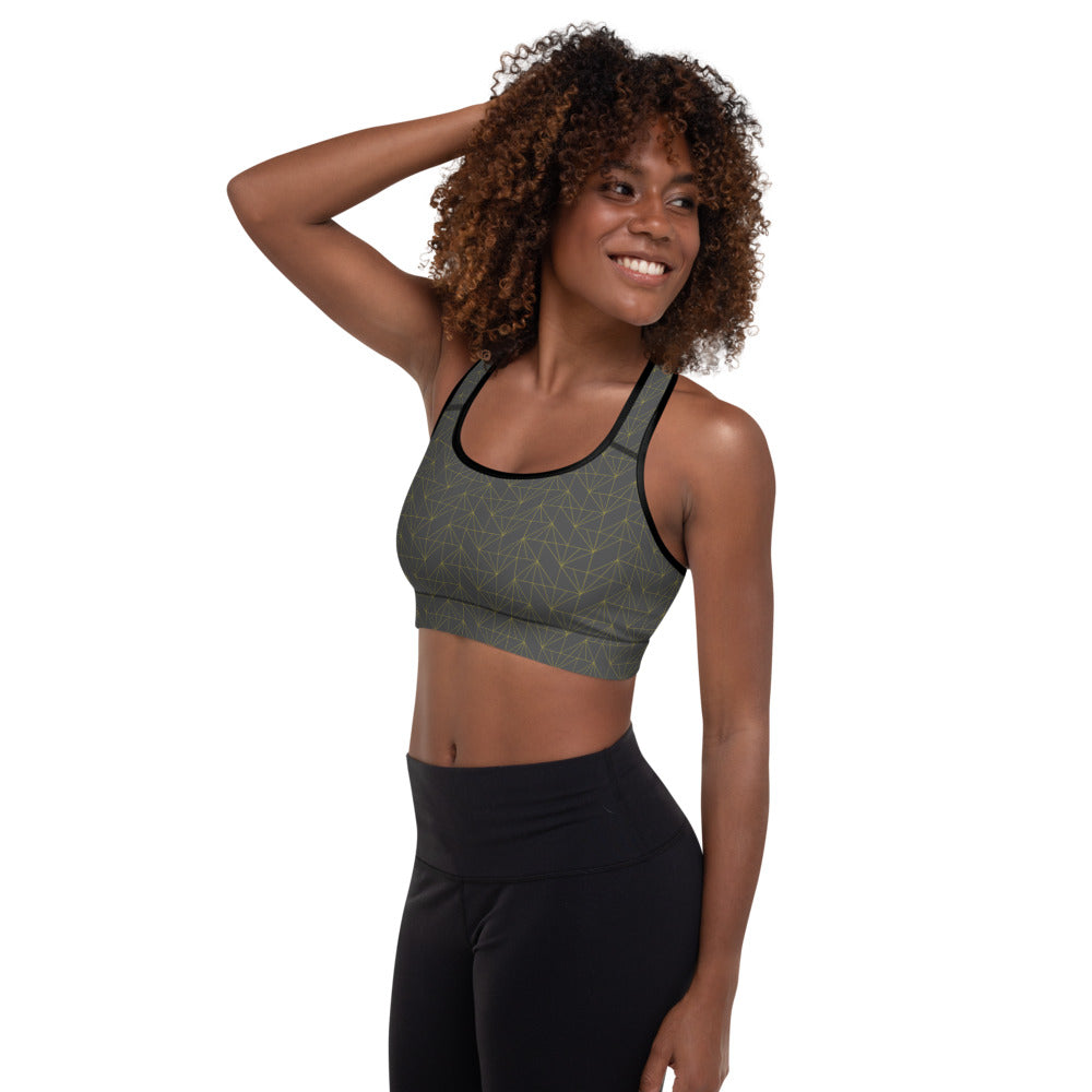 "EHW Gatsby ""Daisy"" Sports Bra - Grey/Black"
