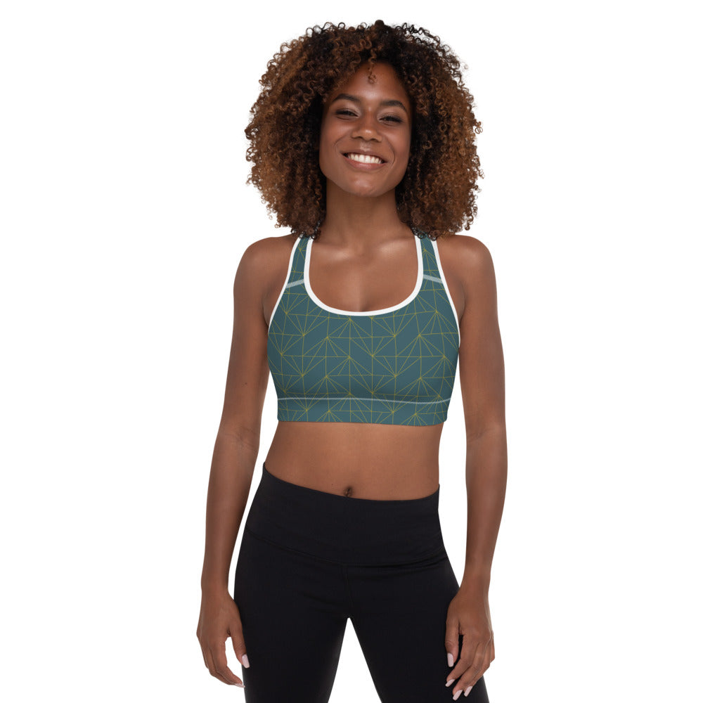 "EHW Gatsby ""Jay"" Sports Bra - Green/White"