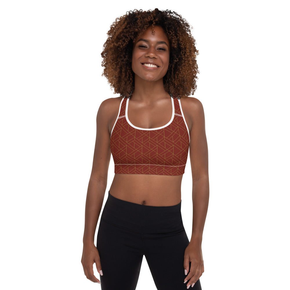 "EHW Gatsby ""Jay"" Sports Bra - Burgundy/White"