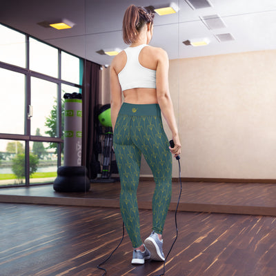 EHW Gatsby Yoga Leggings - Green/Green