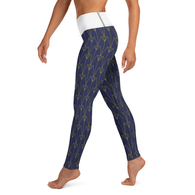 EHW Gatsby Yoga Leggings - Eggshell/Navy