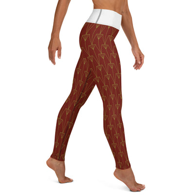 EHW Gatsby Yoga Leggings Eggshell/Burgundy