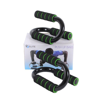 Deluxe Push Up Bars - Black/Green