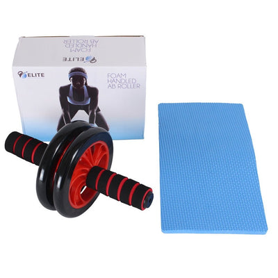 Dual Wheel Abdominal Roller Black / Red