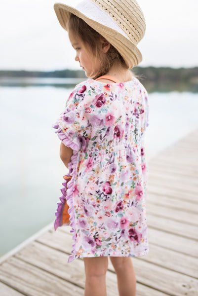 Ruffle Swim Cover - Wildflower