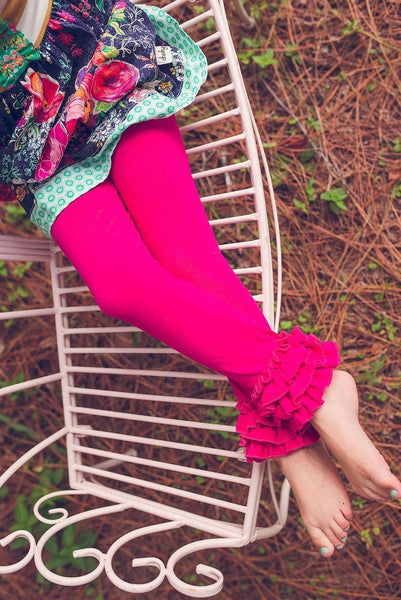 *NEW* Fuchsia Ruffle Leggings