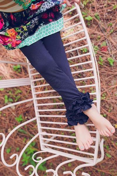 *NEW* Navy Ruffle Leggings
