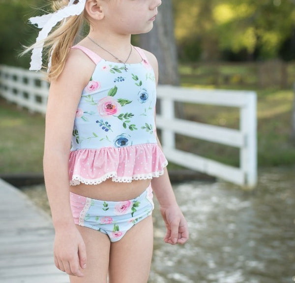 Selah Tankini Swimsuit - Sea Sparkle (Running Small)