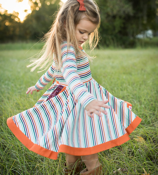 Penelope Knit Dress - Happy Harvest