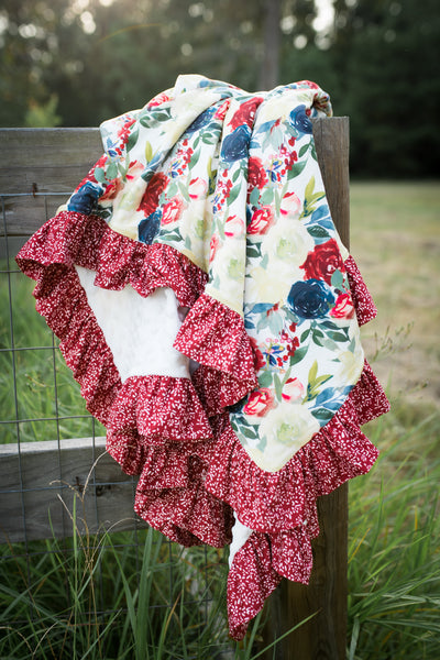 Rose Barn Ruffle Blanket - Extra Large