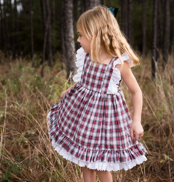 Lucy Dress - Poinsettia Plaid