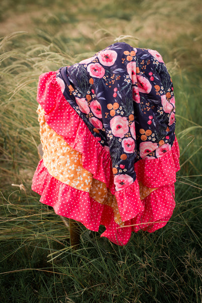 Sunset Ruffle Blanket - Extra Large