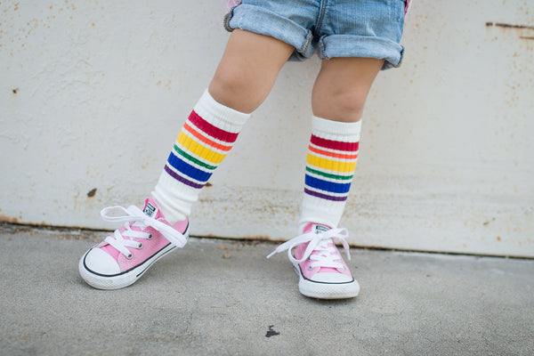 *NEW* Kiss my socks - Rainbow Striped