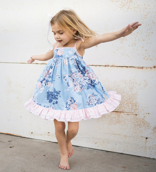 Sadie Dress in Blue Moon