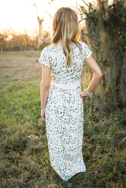 Womens Petal Dress - Morning Sprig