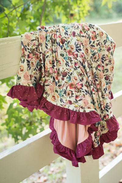 Vineyard Passage Ruffle Blanket - Extra Large