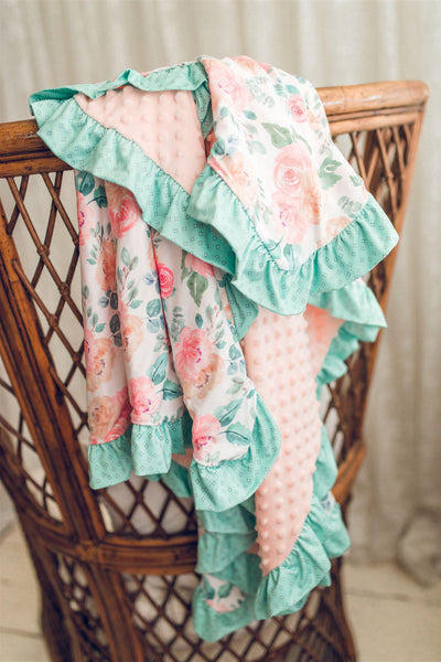 Peachy Keen Ruffle Blanket - Extra Large