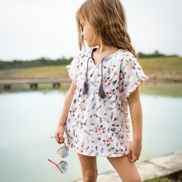 Ruffle Swim Cover - Morning Sprig
